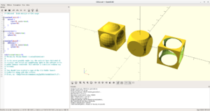 Interface OpenSCAD